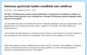 art. IJmuider Courant van 29-10-2011